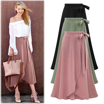 Dress High Waist Irregular Split Skirt [11621664084]