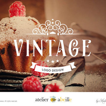 SALE vintage logo design custom logo design boutique logo branding design business logo wordpress website logo blog logo restaurant logo