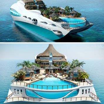 Dwellings / Private Yacht as Tropical Island Paradise