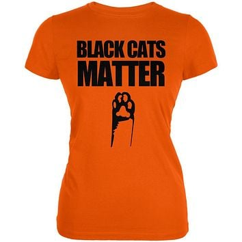 Halloween Black Cats Matter Juniors Soft T Shirt