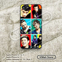 One Direction, iPhone 5 Case, iPhone 5c Case, iPhone 5s Case, Star, iDol, iPhone 4 Case, iPhone 4s Case, Hard Case Rubber Case Cover, OD08