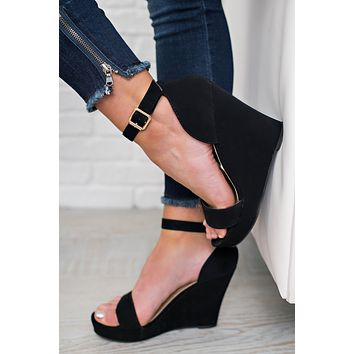 Little Bit Of Luck Wedges (Black)