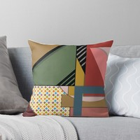 'Random Abstract Pattern ' Throw Pillow by New World