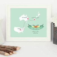 Wedding gift, wedding present, gift for the bride, gift for groom, gift for couple, newlyweds gift, anniversary gift, gift for her, love map