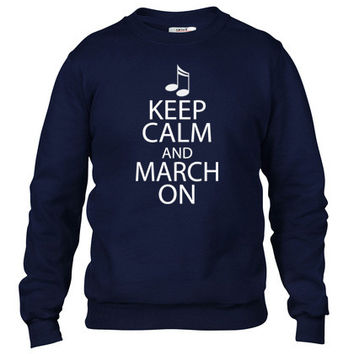 Keep Calm and March On Crewneck sweatshirt