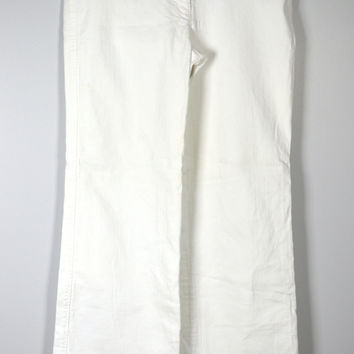 J CREW White Jeans Size 12 City Fit