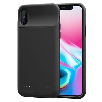 CREYON iPhone X Battery Case, ZeeHoo 3200mAh Slim Charging Case for iPhone X / iPhone 10 (5.8-inch) Protective Charger Case Extended Battery Pack¡¾Compatiable with Lightning Headphones¡¿-(Black)