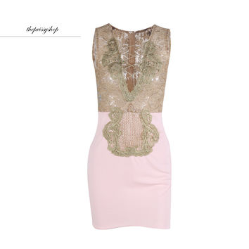 Pink Lovely Lace Dress