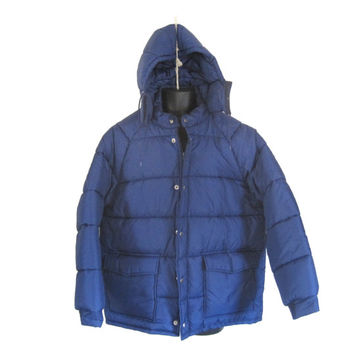 Men Parka Men Winter Coat Puffy Coat Puff Coat Puffer Coat Hooded Winter Coat Blue Coat Warm Winter Coat Winter Parka Retro Coat Nylon Coat