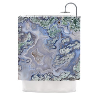"KESS Original ""Pastel Geode"" Blue Teal Shower Curtain"