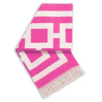 Jonathan Adler Hot Pink And Natural Nixon Throw in Jonathan Adler Junior