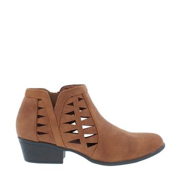 Cut Out Ankle Bootie (TAN)
