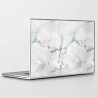Green Cracked Design Laptop & iPad Skin by CHIBIpoppedTheDinosaur