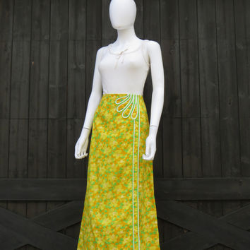 Vintage 60s 70s The Lilly Pulitzer Palm Beach Preppy Maxi Skirt