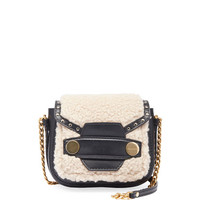 Stella McCartney Alter Shearling Fur Free Fur Shoulder Bag, Off White
