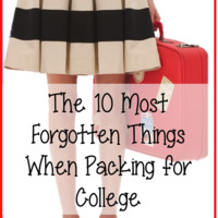 Prep Avenue: The 10 Most Forgotten Things When Packing for College