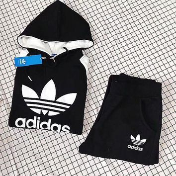 ADIDAS Top Sweater Hoodie Pants Trousers Set Two-Piece Sportswear1