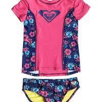Girls 2-6 Tropical Traditions Rashguard Set PGRS60046 | Roxy