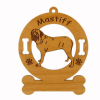 3545 Mastiff Standing Ornament Personalized with Your Dog's Name