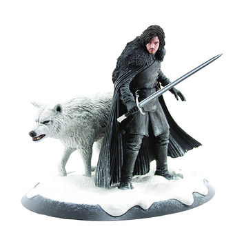 Jon Snow and Ghost Game of Thrones Dark Horse Statue