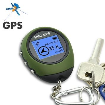 Portable Mini Handheld Keychain GPS Tracker DC 5V Tracking Device Pathfinding GPS Locator With 16 POI Compass For Outdoor Travel