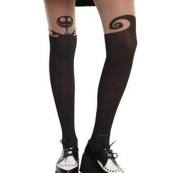Licensed cool NEW DISNEY Nightmare Before Christmas Jack Skellington Tights Nylons S/M OR M/L