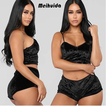 2pcs Women Sexy Satin Sleepwear Babydoll Lingerie Nightdress Pajama Set US STOCK