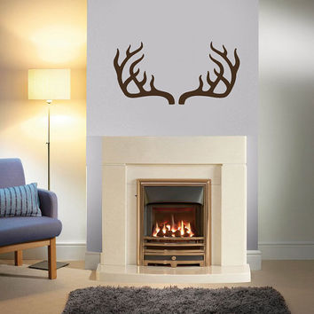 Deer Antler Horns Wall Decals - Wall Vinyl Decal - Interior Home Decor - Housewares Art Vinyl Sticker L530