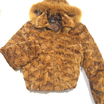 Winter Fur Mink Pieces/Fox Fur Collar Coat