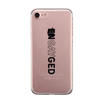 LGBT Engayged Clear Phone Case