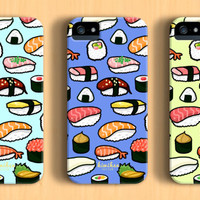Sushi Pattern iPhone case - iPhone 6 plus case - iPhone 6 case - iPhone 5c case - iPhone 5 case - iPhone 4 case - Galaxy S5 case
