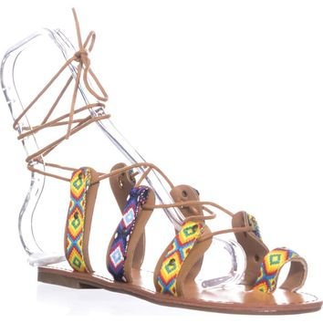Indigo Rd. Garlan Flat Strappy Sandals, Yellow, 9 US
