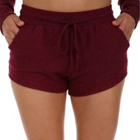 Burgundy Under Cover Lounge Shorts