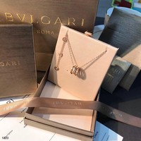 [Limited time special] counter packaging Bulgari BVLGAR counter classic hollow spring rose gold full diamond necklace