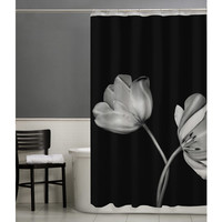 Walmart: Maytex Tulip PEVA Vinyl Shower Curtain, Black