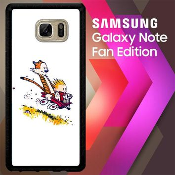 Calvin And Hobbes X4727 Samsung Galaxy Note FE Fan Edition Case