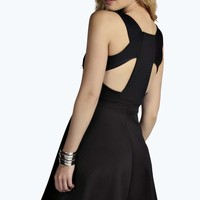 Felicity Cage Back Detail Skater Dress