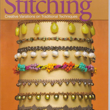 Seed Bead Stitching book by Beth Stone creative variations on traditional jewelry making techniques
