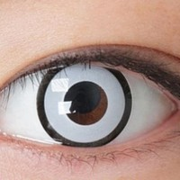 GEO White Manson Halloween Costume Cosplay Circle Lenses Colored Contacts Cosmetic Color Circle Lens