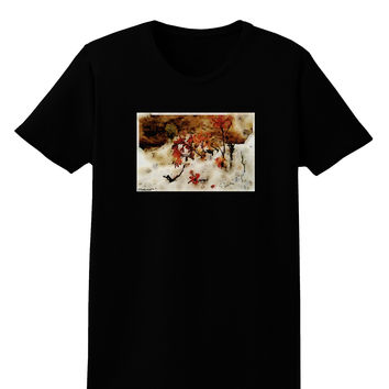 CO Painted Mines Watercolor Womens Dark T-Shirt