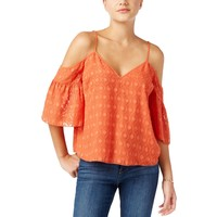 Guess Womens Chiffon Textured Blouse