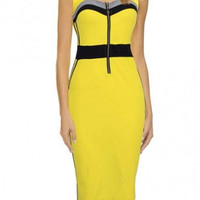 Women's Voguish Colorblock Square Neck Party Dress