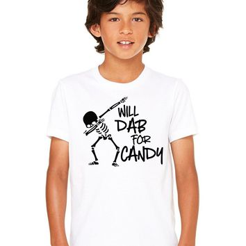 Will Dab For Candy Kid's Halloween Shirt
