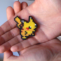Pokemon Brooch - Pikachu Fan Art Pin
