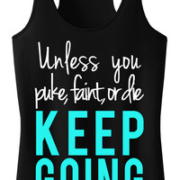 Women's Never Give Up Workout Sport Tank