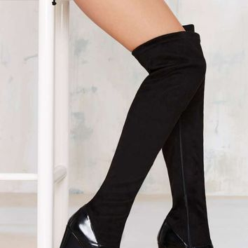 Jeffrey Campbell Chastity Thigh High Suede Boot
