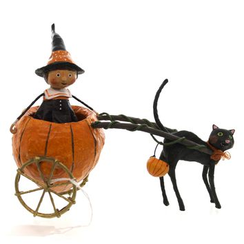 Lori Mitchell Pipers Pumpkin Ride Halloween Figurine
