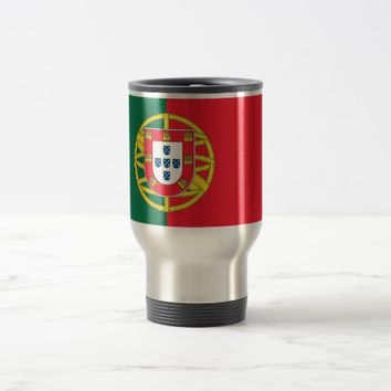 Travel Mug with Flag of Portugal