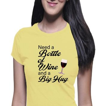 Wine and Hug Shirt, Wine Shirt, I Love Wine, Hug Shirt, Funny Shirt, Trendy Shirt, Wine TShirt, Wine Tee, Boyfriend Tee, Joke shirt, Hug Tee