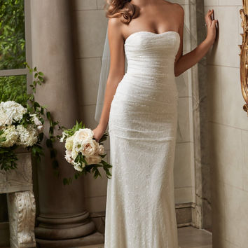 Wtoo by Watters Maia 14129 Simple Lace Wedding Dress